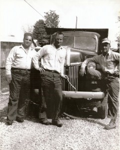 History - Calvin with Mickey Eldridge and Old Truck